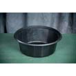 Round Microwave-Safe Containers, 32 oz, Plastic, Black, 75/Bag GNPFP032