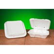 Snap-It Vented Foam Hinged Container, White, 9-1/4 x 9-1/4 x 3, 100/Bag GNPSN200V