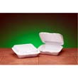 Snap-It Foam Hinged Container, Small, 1-Comp, White, 8-7/16x7-5/8x2-3/8, 100/Bag GNPSN220