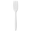 "Medium-Weight Cutlery, 6 1/4"", Fork, White GENPPFK"