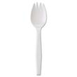 "Medium-Weight Cutlery, 6 1/4"""", Spork, White"