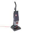 Commercial Lightweight Bagless Upright Vacuum, 12.33 lbs, Black HOOC1415