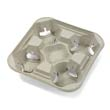 StrongHolder Molded Fiber Cup Tray, 8-32oz, Four Cups HUH20938