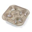 StrongHolder Molded Fiber Cup Tray, 8-22oz, Four Cups HUHFLURRY