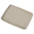 StrongHolder Molded Fiber Food Trays, 9 x 12 x 1, Beige, Rectangular HUHTUG