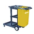 Janitorial Cart, 3 Shelves, 20 1/2w x 48d x 38h, Blue IMP6850