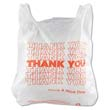 T-Shirt Thank You Bag, 11.5 x 21, 12.5 Micron, White, 900/Case IBSTHW1VAL