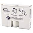 High-Density Can Liner, 40 x 46, 45-Gallon, 14 Micron Equivalent, Clear, 25/Roll IBSVALH4048N14