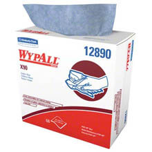 WYPALL X90 Cloths, Industrial, 8 3/10 x 16 4/5, White, 68/Box KCC12890
