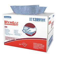 WYPALL X90 Cloths, Industrial, 11 1/10 x 16 4/5, White, 136/Box KCC12891