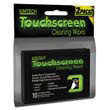 Touch Screen Disposable Wipes, 3.1 x 3.9,  12 packs of 10 Wipes/Pouch KCC25932