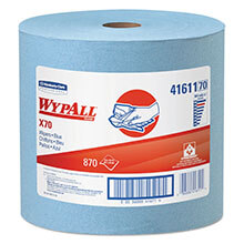 WYPALL X70 Wipers, Jumbo Roll, 12 1/2 x 13 2/5, Blue, 870/Roll KCC41611