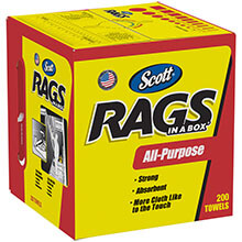SCOTT Rags in a Box, 10 x 12, White KCC75260