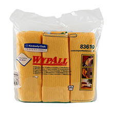 WYPALL Cloths w/Microban, Microfiber, 15 3/4 x 15 3/4, Yellow KCC83610