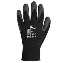 KLEENGUARD G40 Latex Coated Poly-Cotton Gloves, Large/#9, Gray KCC97272