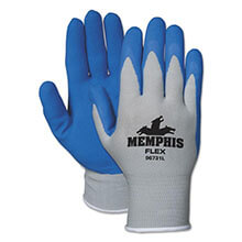 Memphis Flex Seamless Nylon Knit Gloves, Medium, Blue/Gray, Pair MCR96731M