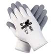 Ultra Tech Foam Seamless Nylon Knit Gloves, Small, White/Gray MCR9674S