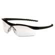 Dallas Wraparound Safety Glasses, Black Frame, Clear Lens CRWDL110