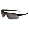 Dallas Wraparound Safety Glasses, Black Frame, Gray Lens MCRDL112