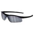Dallas Wraparound Safety Glasses, Black Frame, Gray Indoor/Outdor Lens CRWDL119AF