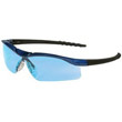 Dallas Wraparound Safety Glasses, Metallic Blue Frame, Clear AntiFog Lens MCRDL310AF