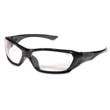 ForceFlex Safety Glasses, Black Frame, Clear Lens CRWFF120