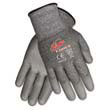 Ninja Force Polyurethane Coated Gloves, Large, Gray MCRN9677L