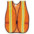 "Orange Safety Vest, 2"" Reflective Strips, Polyester, Side Straps, One Size MCRV201R"