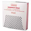Grease-Resistant Paper Wrap/Liner, 12 x 12, Black Checker Print, 1000/Pack BGC057800