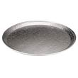 CaterWare Deluxe Embossed Flat Aluminum Trays, 1-Comp, 12dia PAC451212A
