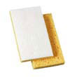 "Light-Duty Scrubbing Sponge, 3 3/5 x 6 1/10 in, 7/10"" Thick, Yellow/White BWK163-20"