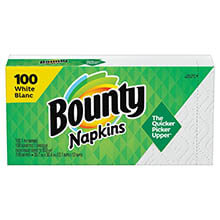Quilted Napkins, 1-Ply, 15 x 17, White, 100/Pack PGC34884