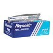 Pop-Up Interfolded Aluminum Foil Sheets, 9 x 10 3/4, Silver, 500/Box REY711