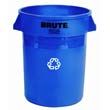 Brute Recycling Container, Round, 20 gal, Blue RCP2620-73BLU