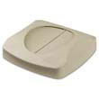 "Swing Top Lid for Untouchable Recycling Center, 16"" Square, Beige RCP2689-88BEI"