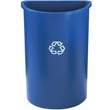 Half-Round Recycling Container, Plastic, 21 gal, Blue RCP3520-73BLU