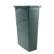 Rubbermaid [3540] Slim Jim Waste Receptacle, Rectangular, Plastic,23 gal, Black RCP3540BLA