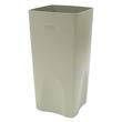 Plaza Waste Container Rigid Liner, Square, Plastic, 19 gal, Beige RCP3563BEI