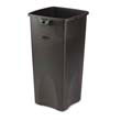 Untouchable Waste Container, Square, Plastic, 23 gal, Black RCP3569-88BLA