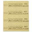 "Over-the-Spill Pads, Polypropylene, ""Caution Wet Floor,"" Yellow, 16-1/2""W x 20""L RCP4252YEL"