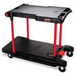 Two Shelf Convertible Utility Cart, Black RCP4300BLA