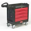 TradeMaster Cart, 500-lb Cap., 1 Shelf - Black RCP4513-88BLA