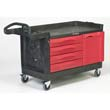 TradeMaster Cart, 750-lb Cap., 1 Shelf, 26 3/8w x 58 5/8d x 33 1/4h, Black RCP4548-88BLA