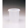 Round Storage Containers, 4qt, 8 1/2dia x 7 3/4h, White RCP5721WHI