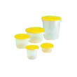 Rubbermaid [5730] Round Storage Container Lid for 12 and 22 qt, 13 1/2dia x 2 3/4h, Yellow RCP5730YEL