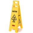 Caution Wet Floor Floor Sign, 4-Sided, Plastic, 12 x 16 x 38, Yellow RCP6114-77YEL