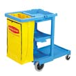 Multi-Shelf Cleaning Cart, 3 Shelves, 21 3/4w x 46d x 38 3/8h, Blue RCP6173-88BLU