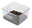 Rubbermaid [6304CLE] SpaceSaver Square Containers, 4qt, 8 4/5w x 8 3/4d x 4 3/4h, Clear RCP6304CLE