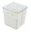Rubbermaid [6308CLE] SpaceSaver Square Containers, 8qt, 8 4/5w x 8 3/4d x 8 3/4h, Clear RCP6308CLE