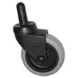 Replacement Swivel Casters, Bayonet, 3in Wheel, Black - 4 Pack RCP7570-L2-PK